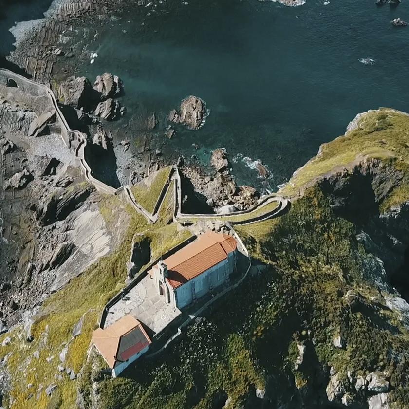 Vista aérea de San Juan de Gaztelugatxe